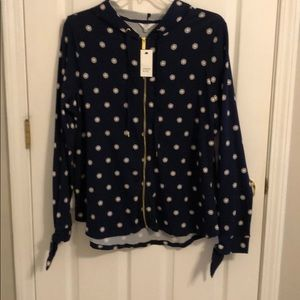 Navy and pink cotton hoodie tunic